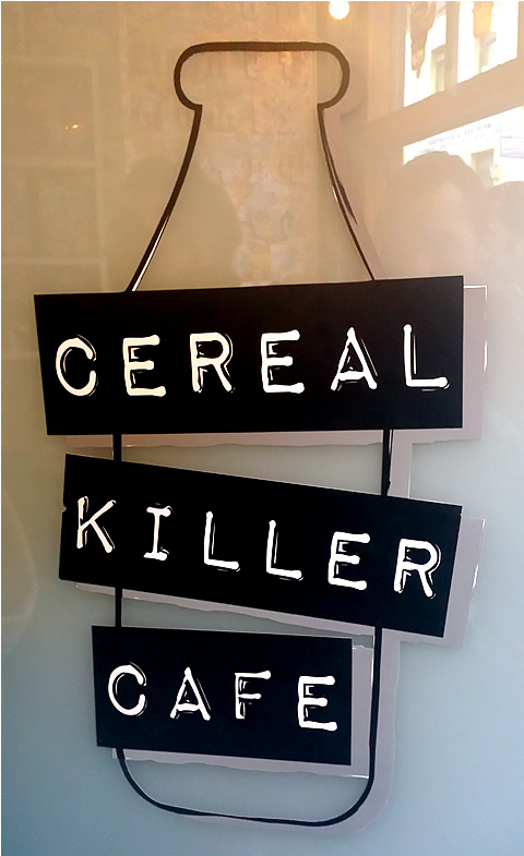 Cereal Killer Cafe Door